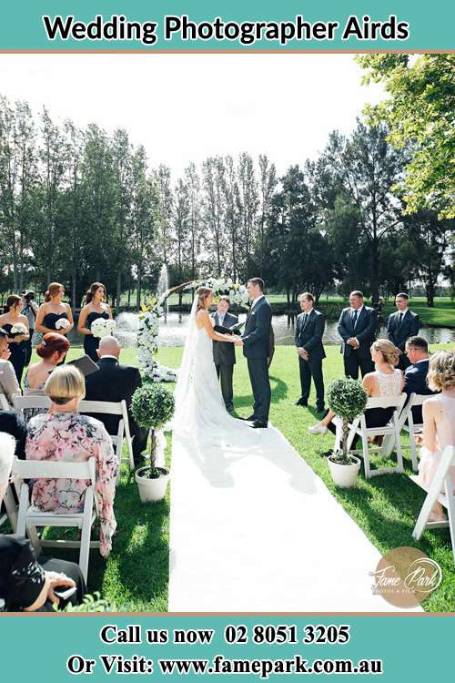 Garden wedding ceremony photo Airds NSW 2560