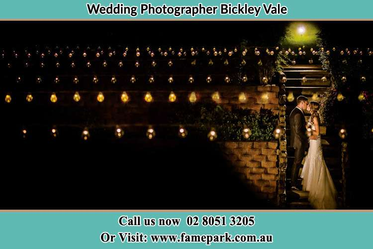 Photo of the Groom and the Bride kissing Bickley Vale NSW 2570