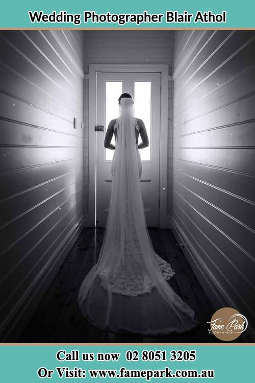 Photo of the Bride going out the door Blair Athol NSW 2560