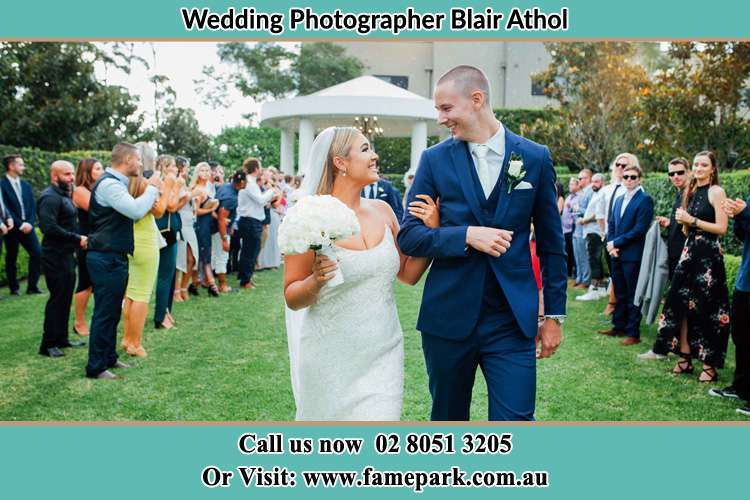 Photo of the Groom and the Bride looking each other Blair Athol NSW 2560