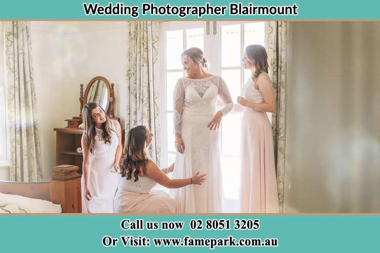 Photo of the Bride and the secondary sponsor preparing Blairmount NSW 2559