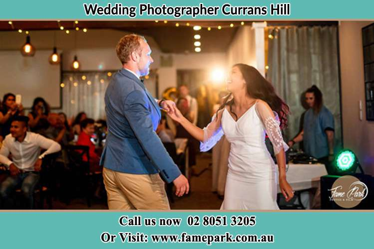 Photo of the Groom and the Bride dancing Currans Hill NSW 2567