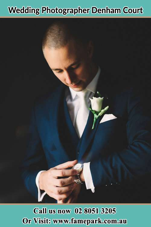 Photo of the Groom checking the time Denham Court NSW 2565