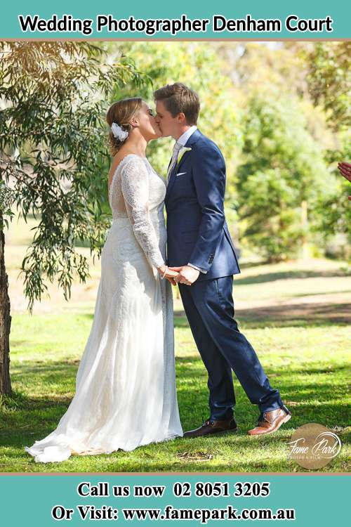 Photo of the Bride and the Groom kissing the bride Denham Court NSW 2565