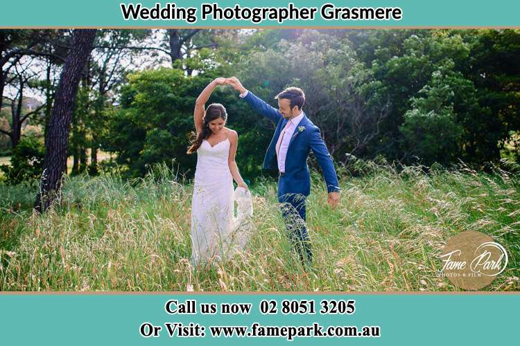 Photo of the Bride and the Groom dancing Grasmere NSW 2570