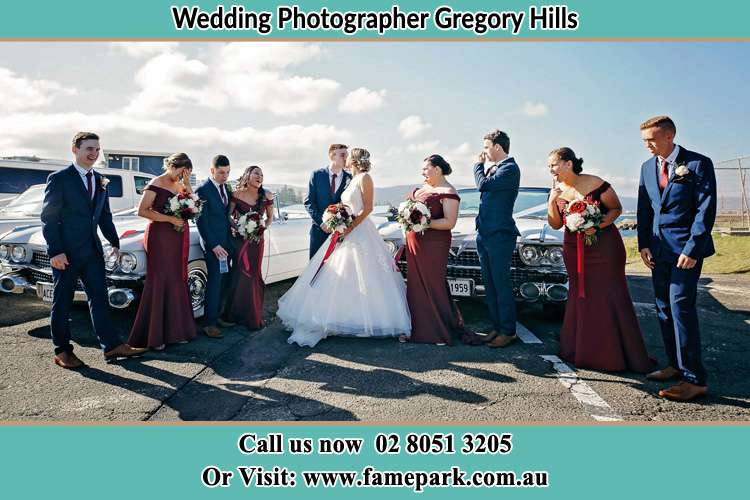 Photo of the Groom and the Bride with the entourage Gregory Hills NSW 2557