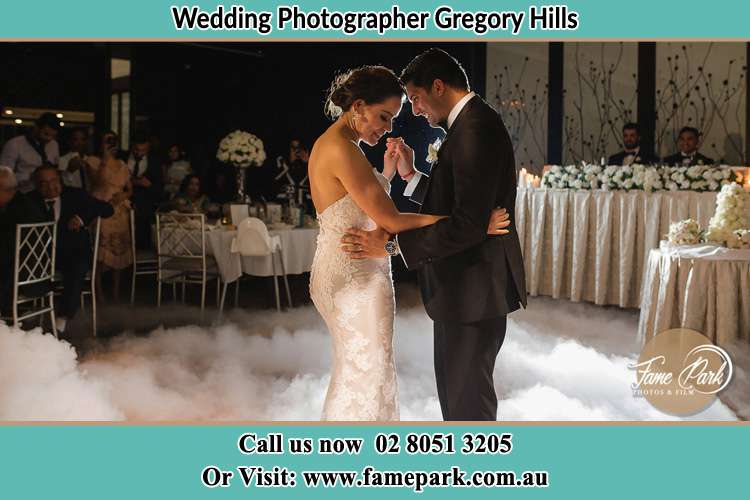 Photo of the Bride and the Groom dancing Gregory Hills NSW 2557