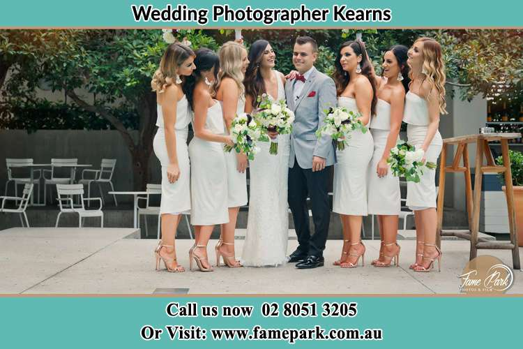 Photo of the Bride and the Groom with the bridesmaids Kearns NSW 2558