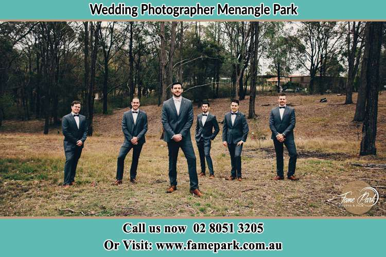 Photo of the Groom and the groomsmen Menangle Park NSW 2563