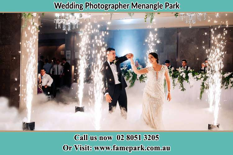 Photo of the Groom and the Bride dancing on the dance floor Menangle Park NSW 2563