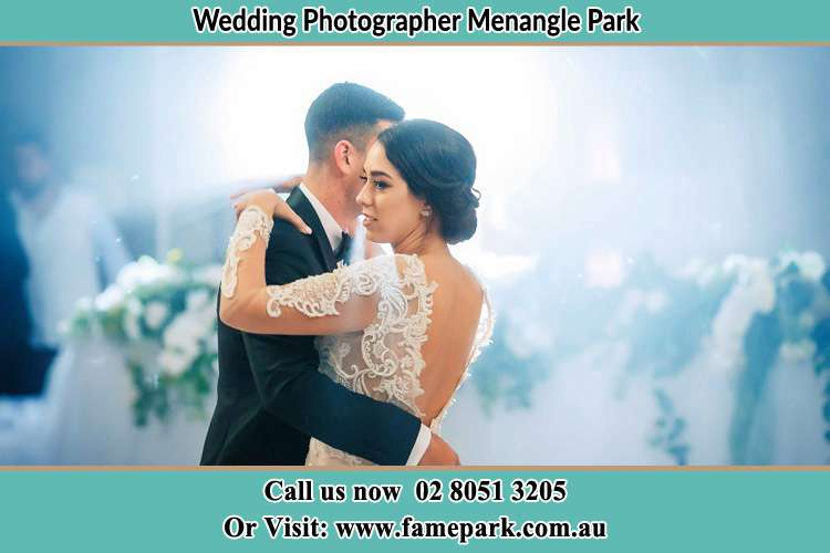 Photo of the Groom and the Bride dancing Menangle Park NSW 2563