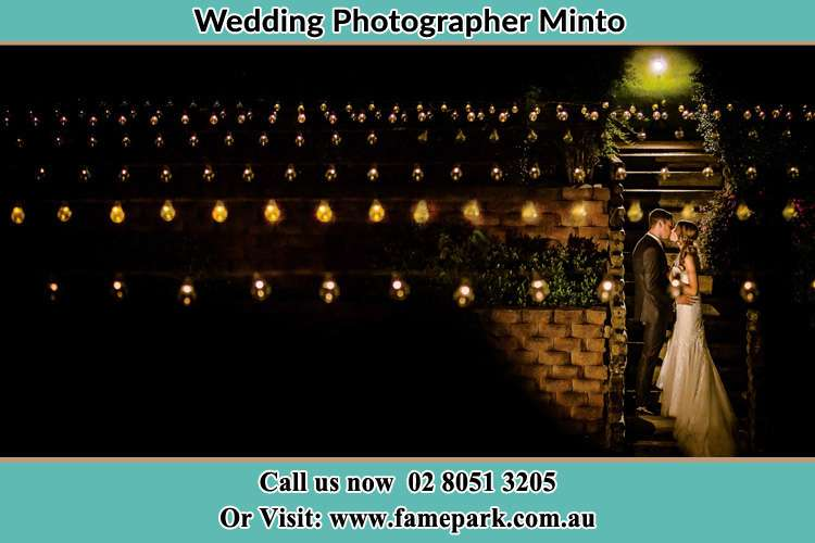 Photo of the Groom and the Bride kissing Minto NSW 2566