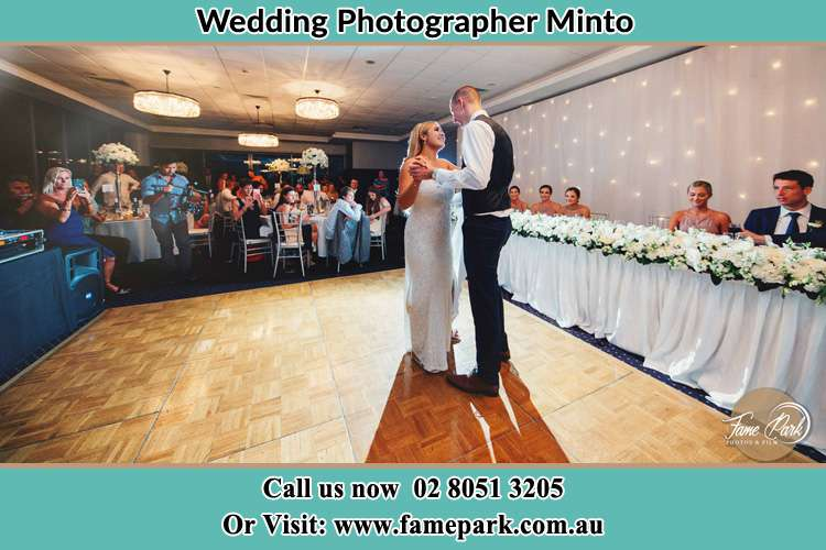 Photo of the Bride and the Groom dancing Minto NSW 2566