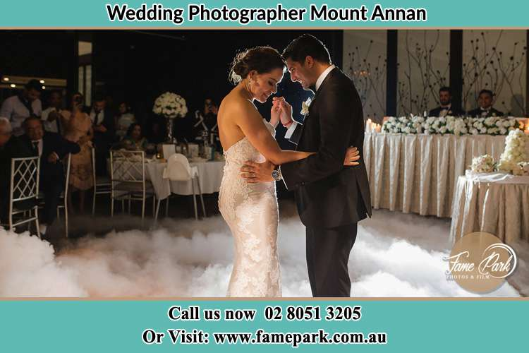 Photo of the Bride and the Groom dancing Mount Annan NSW 2567
