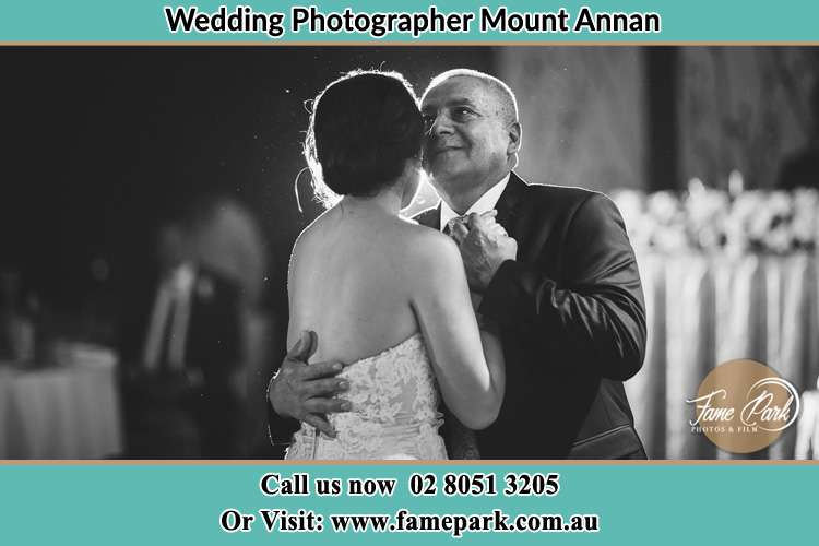 Photo of the Groom dancing with her father Mount Annan NSW 2567
