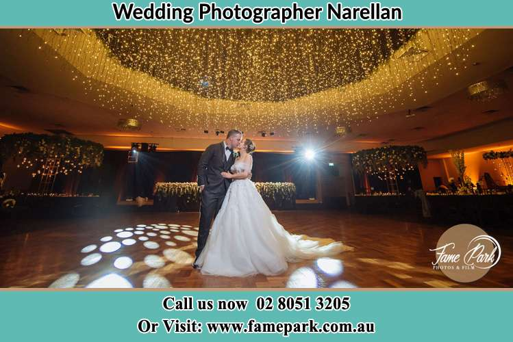 Photo of the Groom and the Bride kissing on the dance floor Narellan NSW 2567