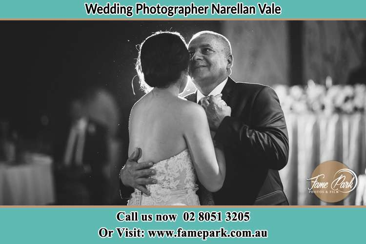 Photo of the Groom dancing with her father Narellan Vale NSW 2567